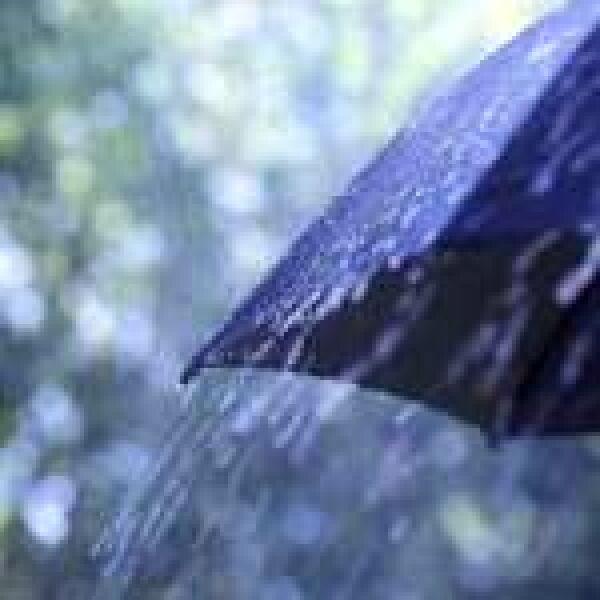 Időjós az esernyőbe rejtve
